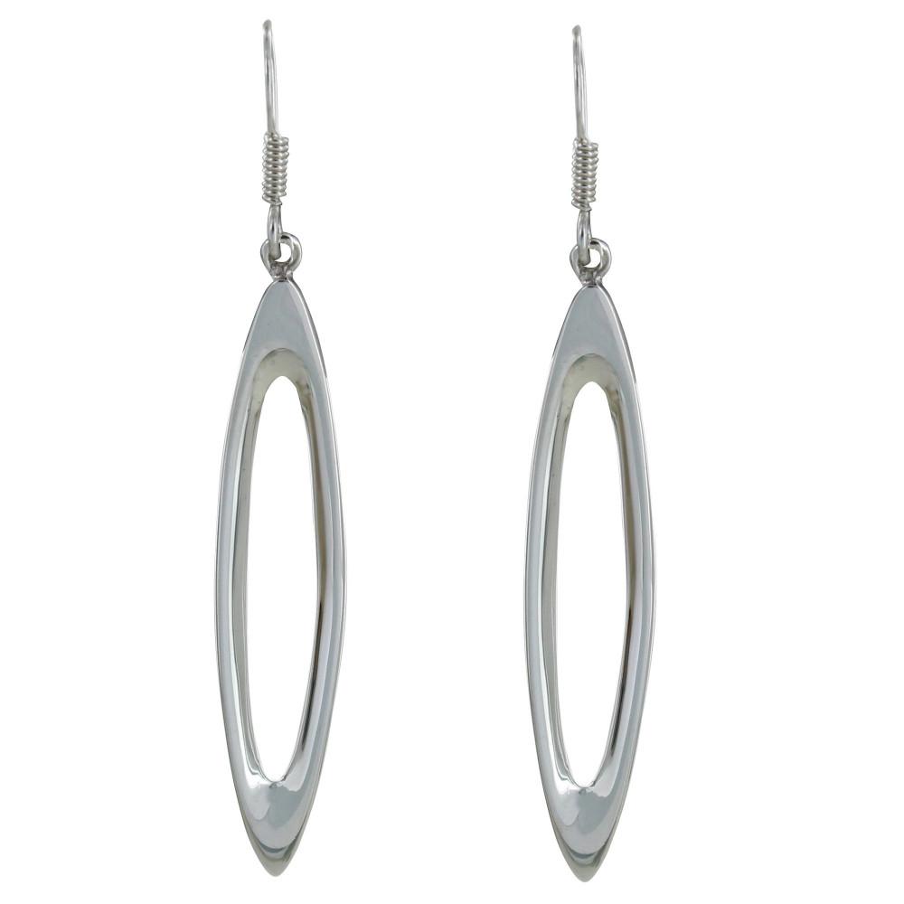 Boucles d 39 oreilles argent ovales ajour s - Support pour boucles d oreilles ...