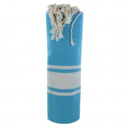 Fouta Drap Plage et Hammam Coton Couleur Turquoise 100 x 200cm