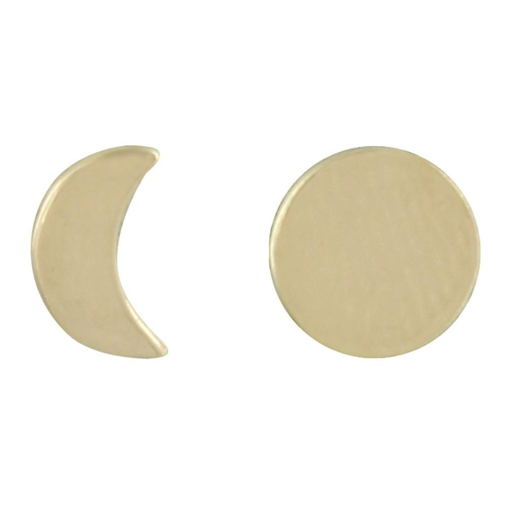 boucles d 39 oreilles plaqu or lune et croissant de lune. Black Bedroom Furniture Sets. Home Design Ideas