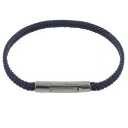 Bracelet Homme Tresse en Coton Bleu Foncé