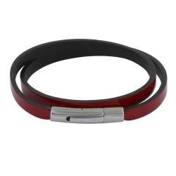 Bracelet Femme Cuir Vernis Plat