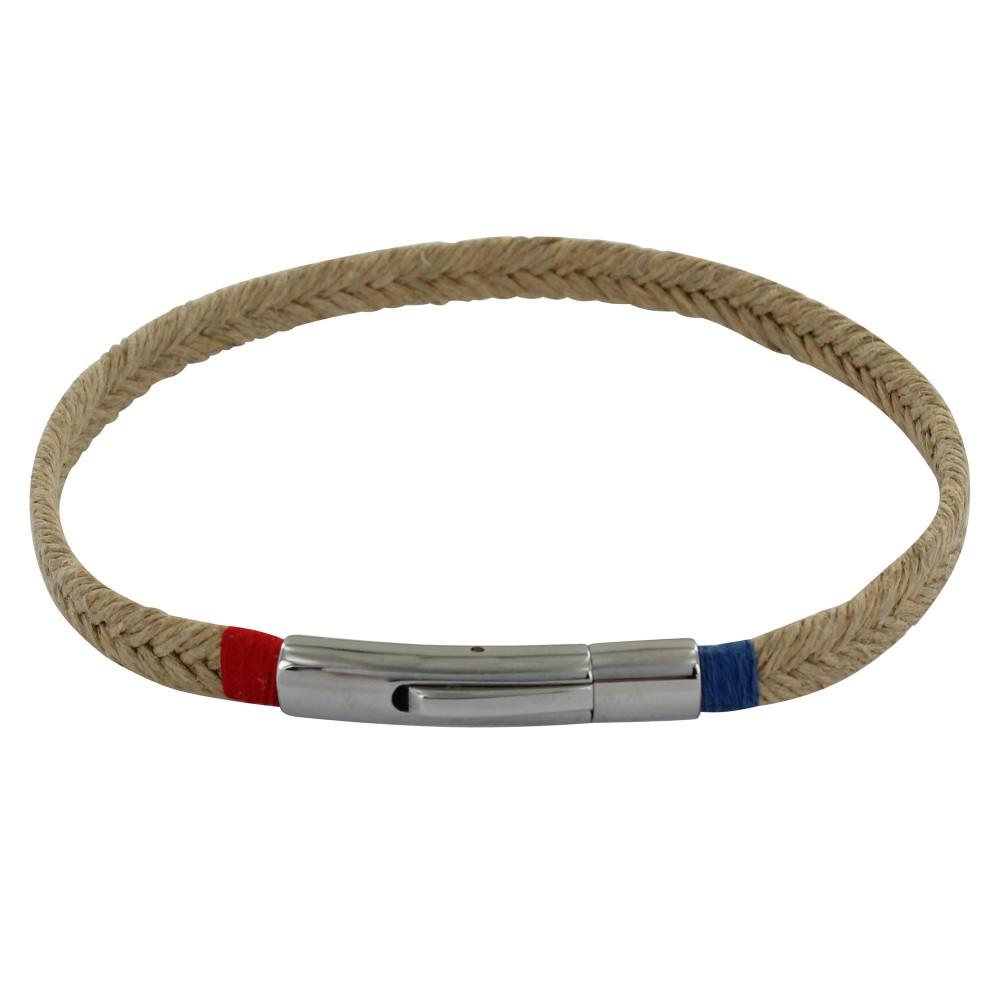 bracelet homme tresse en jute fil bleu et rouge. Black Bedroom Furniture Sets. Home Design Ideas