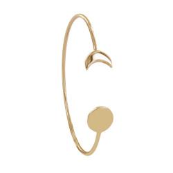 Bracelet Plaqué Or Jonc Lune et Croissant de Lune