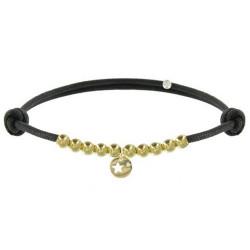 Bracelet Lien Médaille Etoile et Perles Plaquées Or - Classics