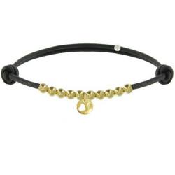 Bracelet Lien Médaille Coeur et Perles Plaquées Or - Classics