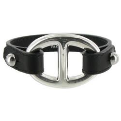 Bracelet Cuir et Maille Marine Argent 925 - Classics