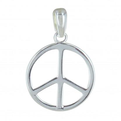 Pendentif Argent Moyen Peace and Love