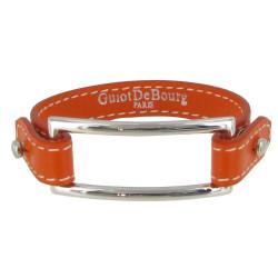 Bracelet Cuir et Rectangle Argent 925 - Colors
