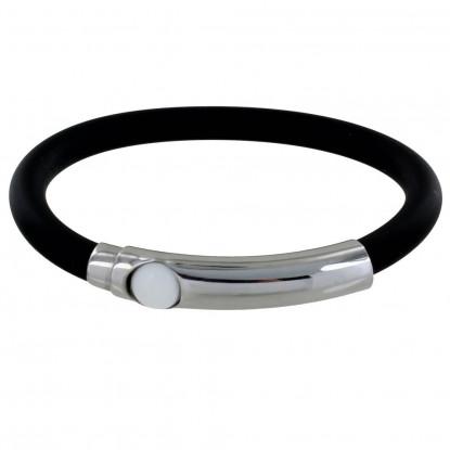 Bracelet Argent Bille et Silicone - Classics