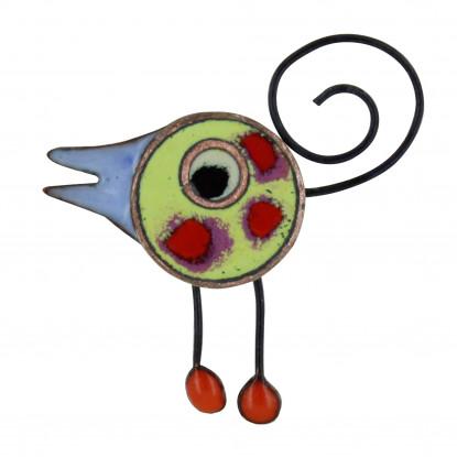 Broche Pin's Oiseau émaillé Vert