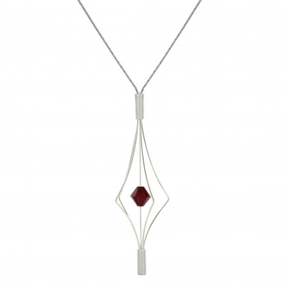 Collier Argent Lanterne et Swarovski - Grand Modèle