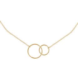 Collier Plaqué Or Deux Cercles - Petit Modèle