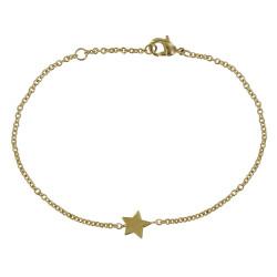Bracelet Plaqué Or Petite Etoile