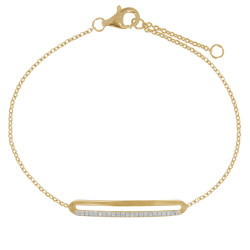 Bracelet Plaqué Or Rectangle Ajouré et Strass