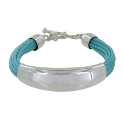 Bracelet Argent Demi-Jonc sur Fils de Coton - Classics