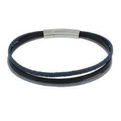 Bracelet Homme Mix Lin Coton Cuir