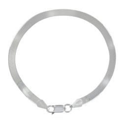 Bracelet Argent Mailles Serpent Plates