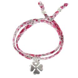 Bracelet Double Tour Lien Liberty et Trèfle Argent - Classics