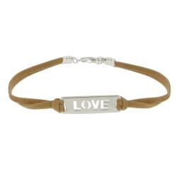 Bracelet Argent Love Lien en Suédine - Classics