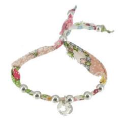 Bracelet Liberty Perles et Médaille Coeur en Argent - Classics