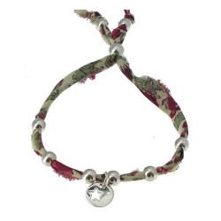 Bracelet Liberty Perles et Médaille Etoile en Argent - Classics