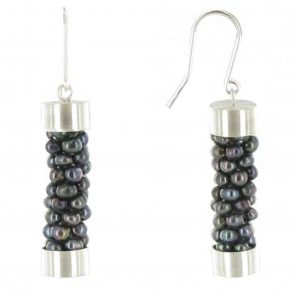 Boucles d'Oreilles Argent Torsade de Perles de Culture - Classics