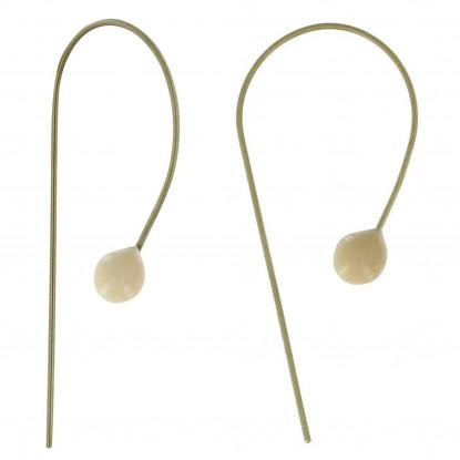 Boucles d'Oreilles Laiton Perle de Verre - Classics