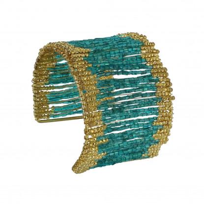 Bracelet Manchette Laiton et Perles - Classics