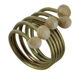 Bague Laiton Perles de Verre - Classics
