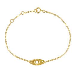 Bracelet Plaqué Or Petites Menottes