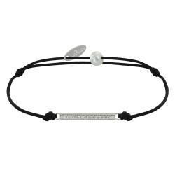 Bracelet Lien Argent Petite Barrette de Strass