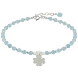 Bracelet Trèfle Argent et Perles Agate - Classics