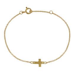 Bracelet Plaqué Or Mini Croix