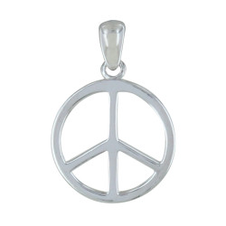 Pendentif Argent Petit Peace and Love