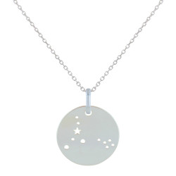 Collier en Argent Zodiaque Constellation Poisson