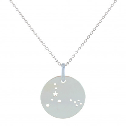 Collier Argent Constellation Poisson