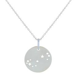 Collier Argent Zodiaque Constellation Scorpion