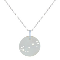 Collier en Argent Zodiaque Constellation Scorpion
