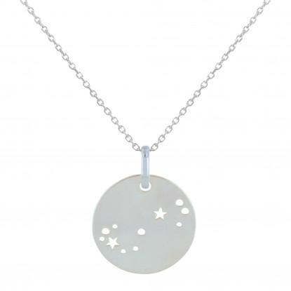 Collier Argent Constellation Scorpion