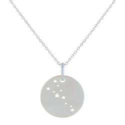 Collier en Argent Zodiaque Constellation Taureau