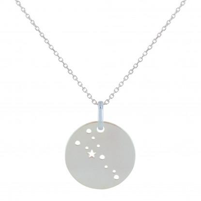 Collier Argent Constellation Taureau