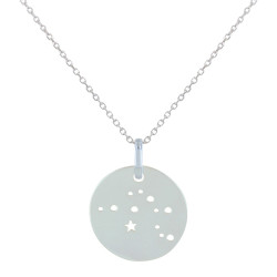 Collier en Argent Zodiaque Constellation Verseau