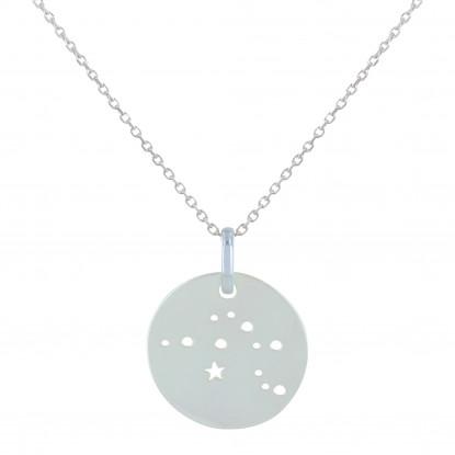 Collier Argent Constellation Verseau