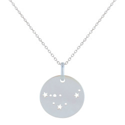 Collier en Argent Zodiaque Constellation Capricorne