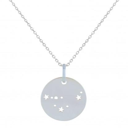 Collier Argent Constellation Capricorne