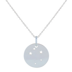 Collier en Argent Zodiaque Constellation Balance