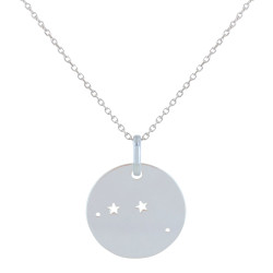 Collier en Argent Zodiaque Constellation Bélier