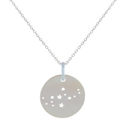 Collier en Argent Zodiaque Constellation Vierge