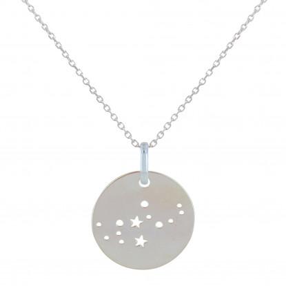 Collier Argent Constellation Vierge