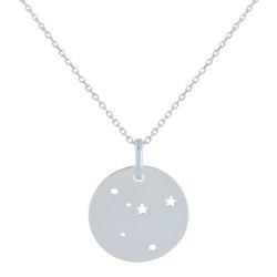 Collier Argent Constellation Cancer